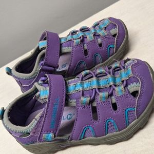 Merrell Hydro Sandals Purple Girls Water Proof H20